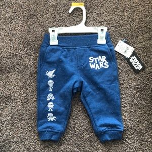 12 Months Star Wars sweatpants blue speckled